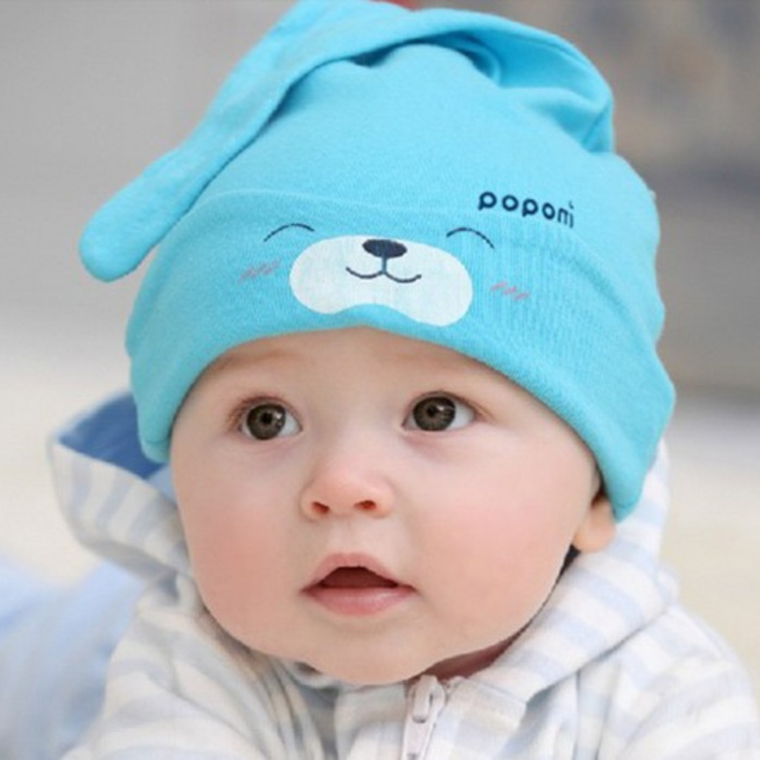 🌟INSTOCK🌟 Sleepy Blue Bear Newborn Beanie Hat Cap for Baby Toddler Boy Kids Hair Accessories, Babies & Kids, Babies Apparel on Carousell