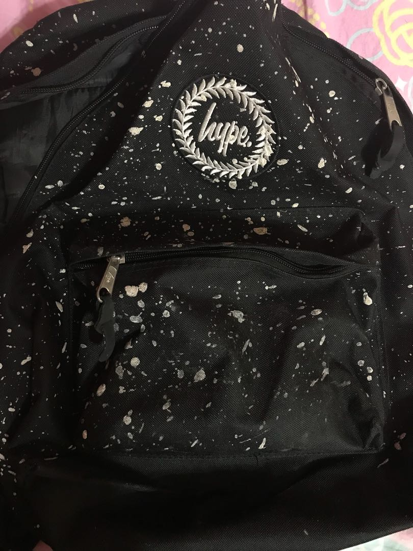 Just Hype Backpack Bag - HYPE BLACK WITH wHITE SPECKLE BACKPACK ... 074ff82133f70