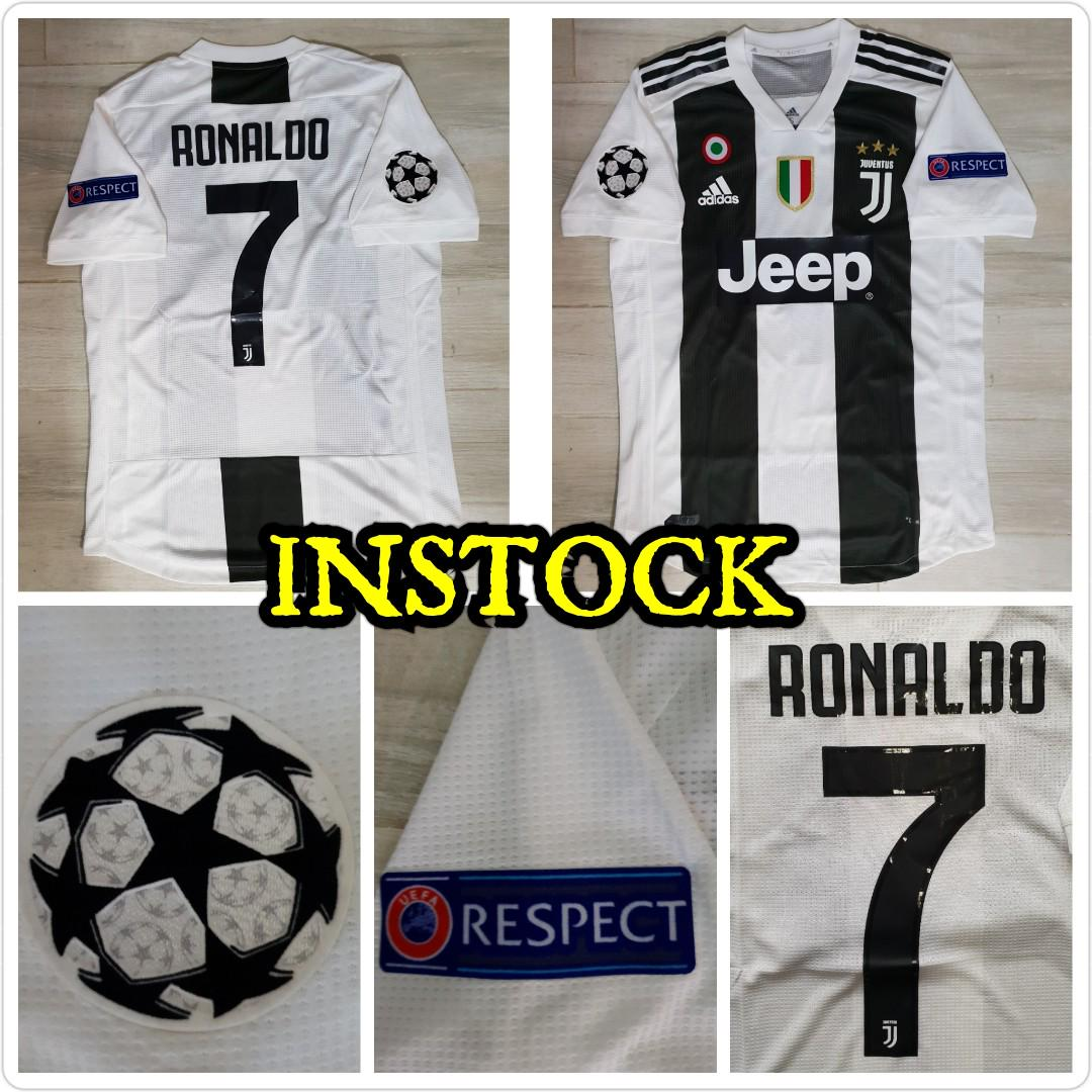 huge selection of d8f20 1d86a Juventus home jersey ucl, Sports, Sports Apparel on Carousell