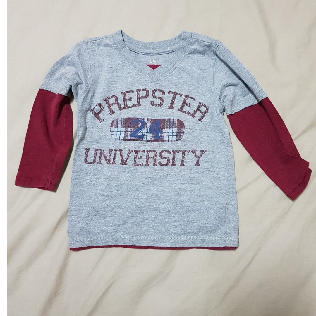 20e2440cf Kid's 4T The Children's Place Grey/Red Long Sleeve T-shirt, Kid's ...