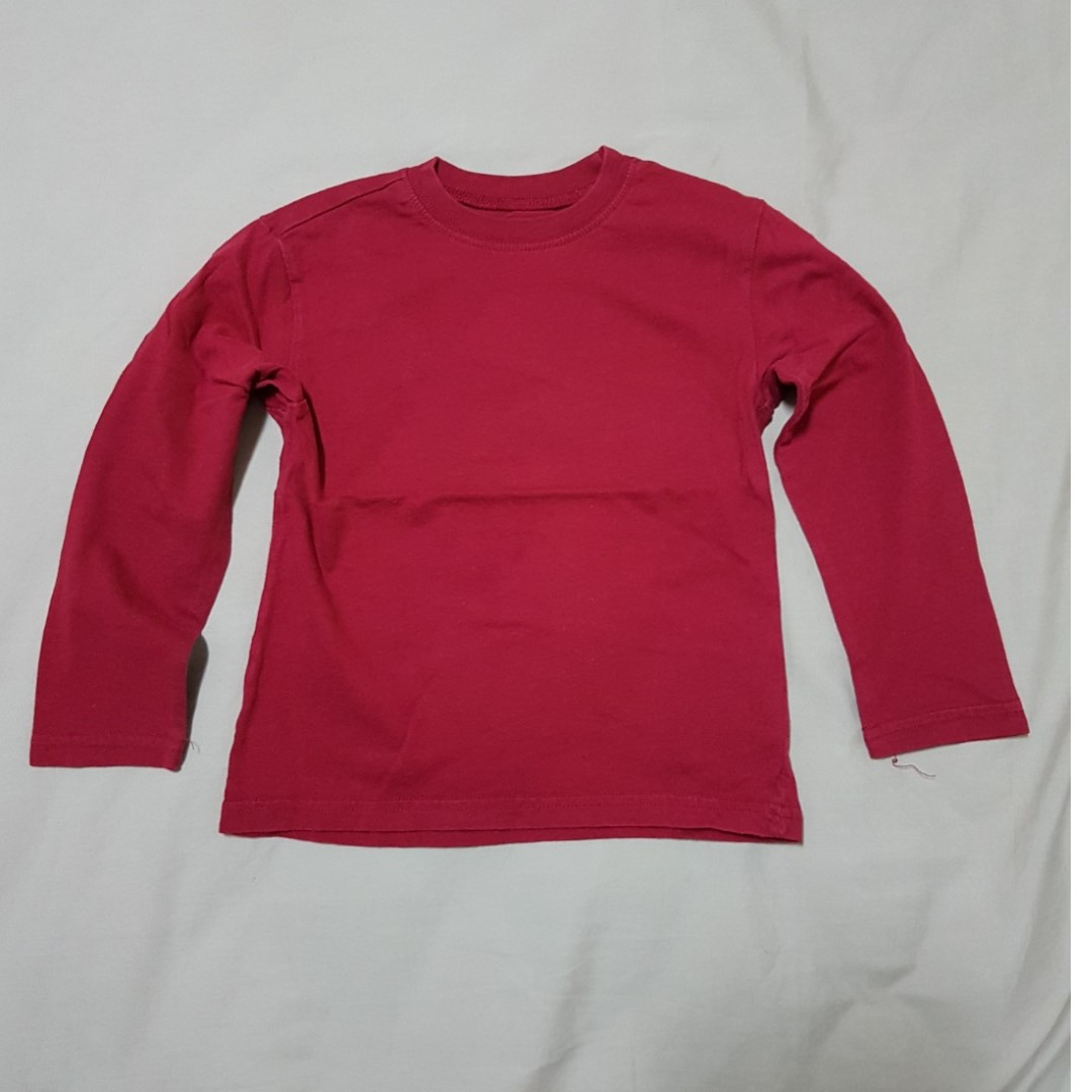 5a480715d Kid's 4T The Children's Place Red Long Sleeve T-shirt, Kid's Clothes ...