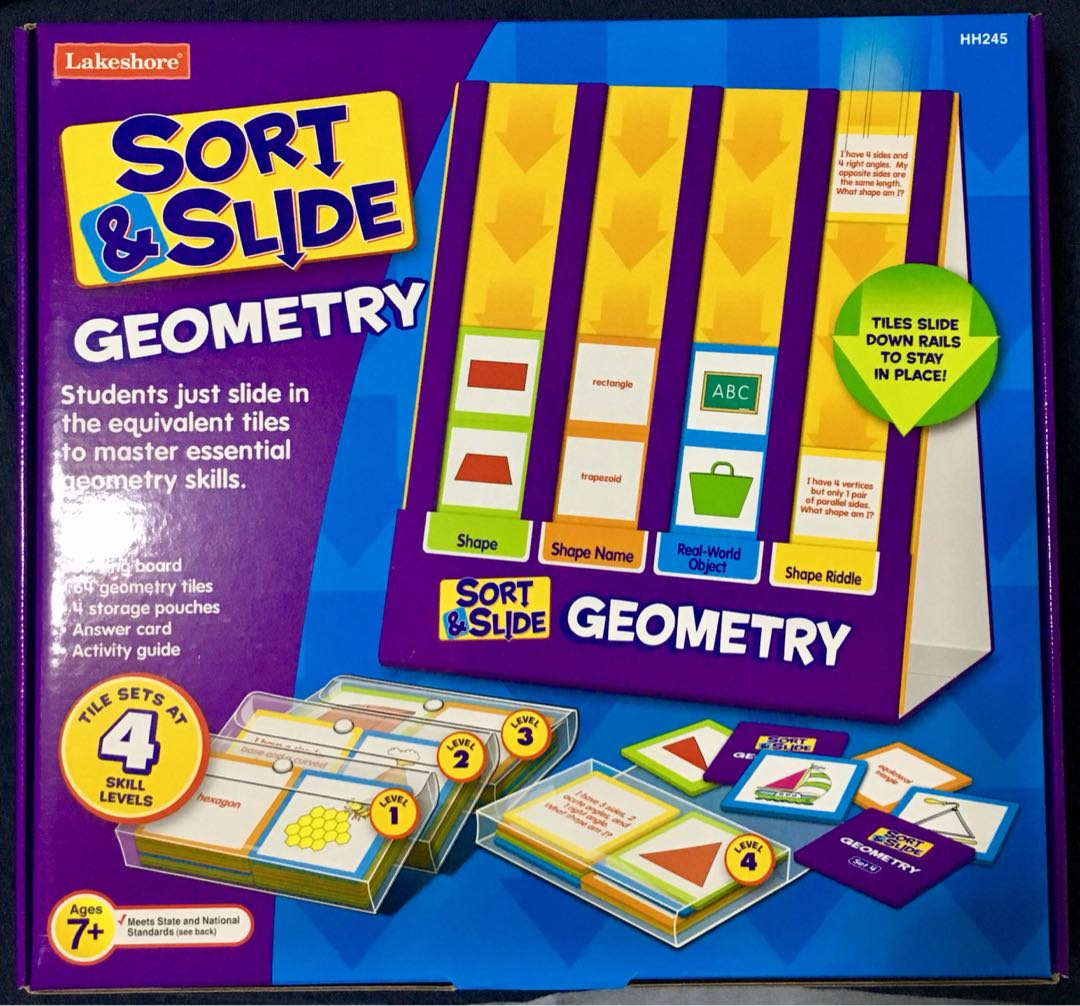 lakeshore sort and slide geometry toys games others on carousell