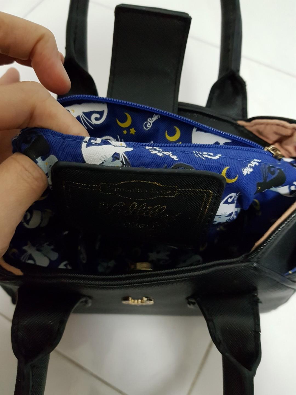 *LIMITED EDITION* SAMANTHA VEGA sailormoon theme black handbag