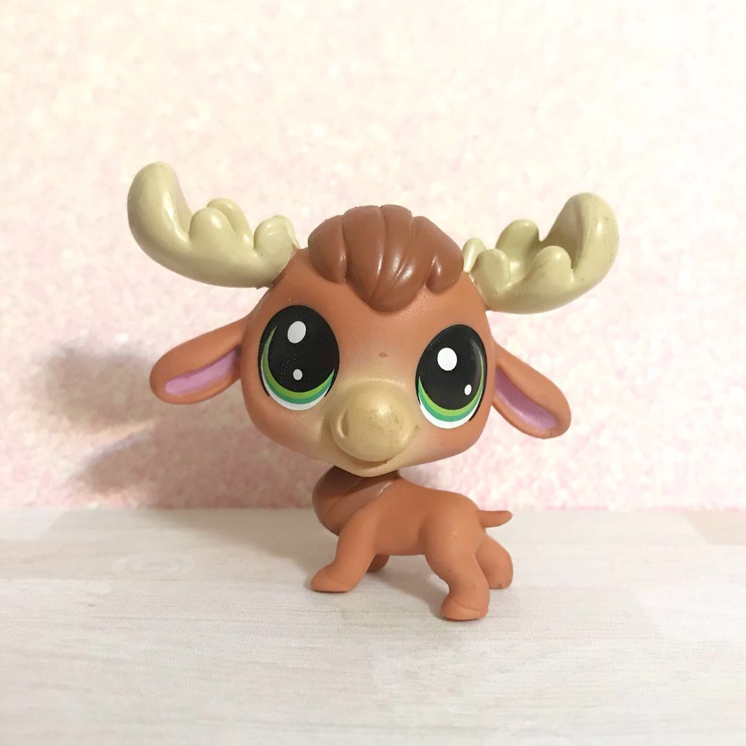Littlest Pet Shop Very Htf Elk Elkman Mooseberg Toys Games