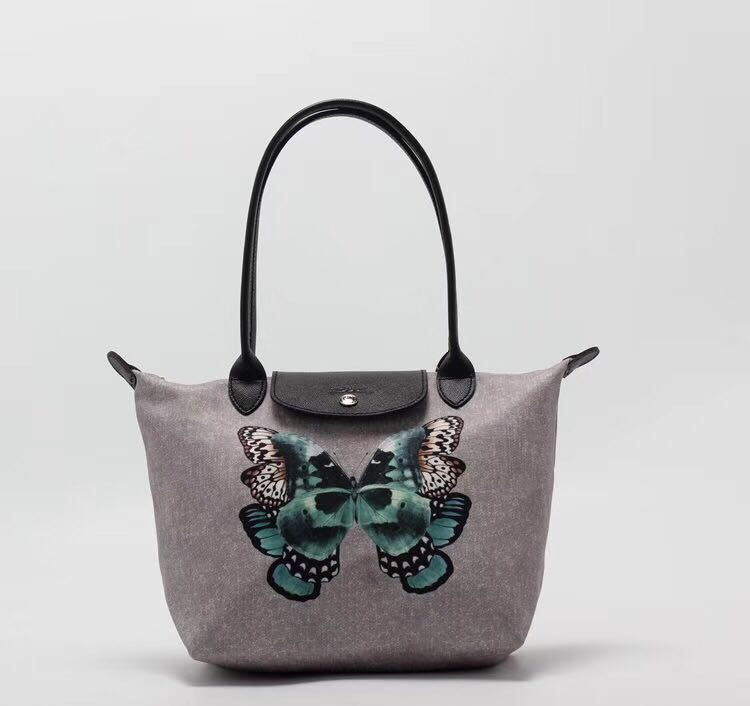 234f24515bec Longchamp Limited Edition 2605 small size long handle tote bag butterfly