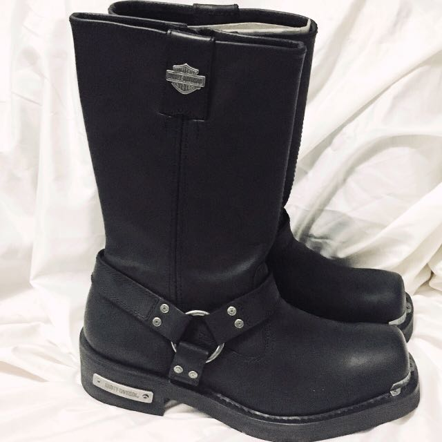 a458198f1a58ee NIB Men s Harley Davidson Black Leather Landon performance boots ...