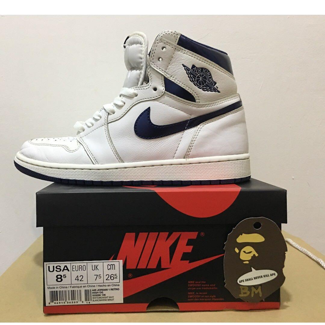 94e1d11a3bf11b Nike Air Jordan 1 Retro High OG Metallic Navy   ORIGINAL     AUTHENTIC