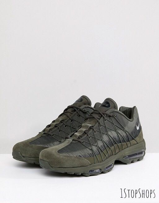 ac3bf79a20 Nike Air Max 95 Ultra Jacquard Trainers 749771-301, Men's Fashion ...