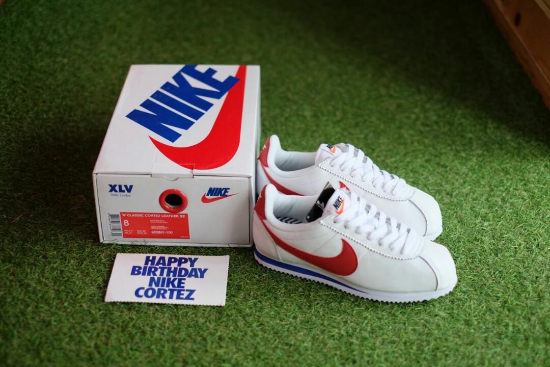 Nike Classic Cortez Leather Forest Gump XLV Fesyen Pria Sepatu Sneakers Di Carousell