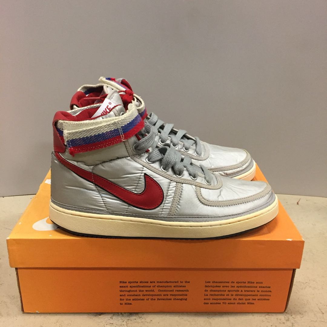 Nike Vandal High Supreme Vintage Grey Red US 10.5 70b195969318