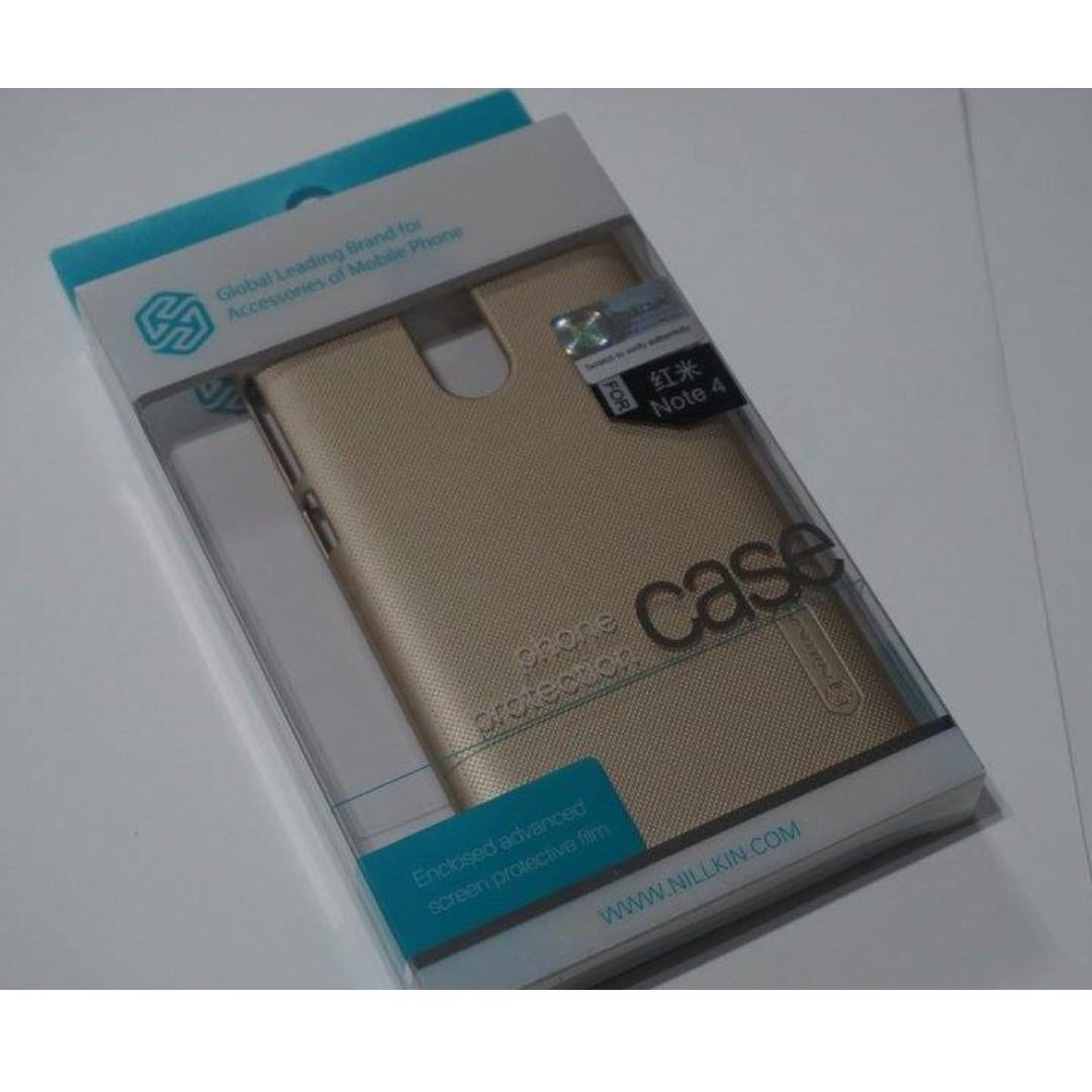 Nillkin Frosted Shield Hard Case for Xiaomi Redmi Note 4 (Gold) on Carousell