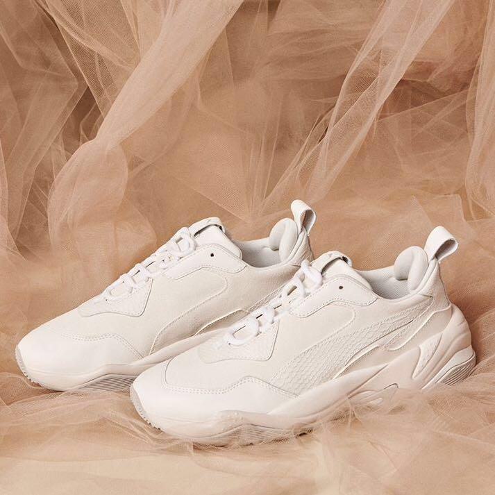 Puma Thunder Desert in White, Women's Fashion, Shoes ...