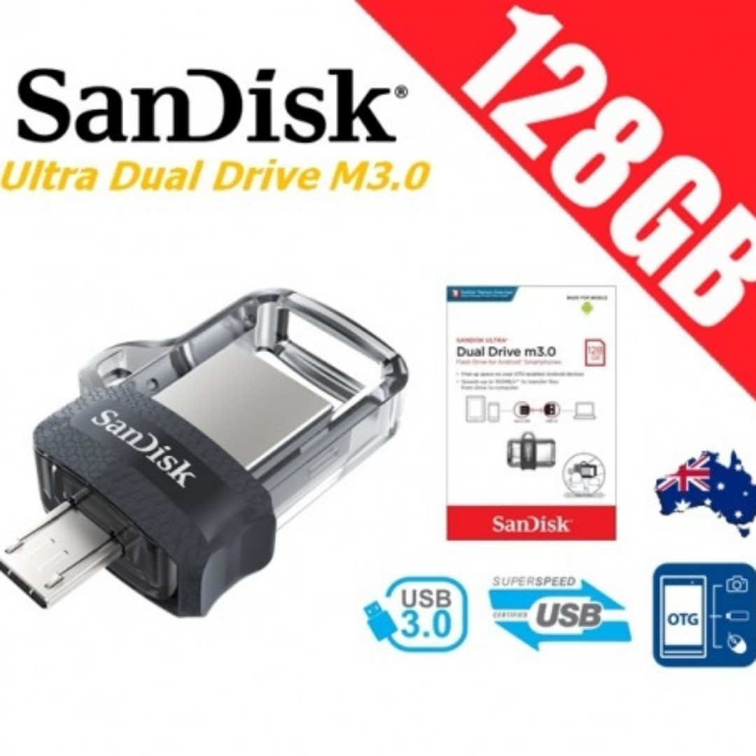 Sandisk Ultra Dual Drive M30 128gb Usb 30 Otg Flash Electronics Computer Parts Accessories On Carousell