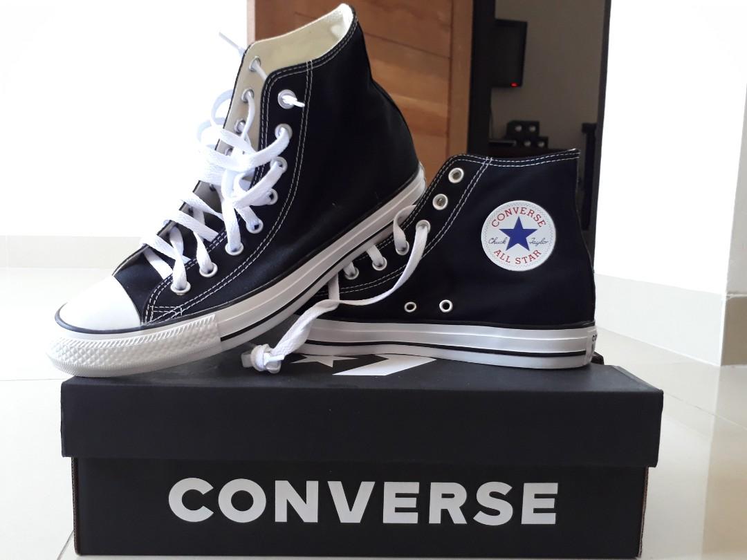 SEPATU CONVERSE ALL STAR high ORIGINAL BLACK AND WHITE 16a2011d42