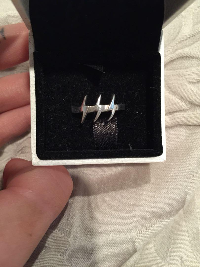Stolen Girlfriends Club lightning ring