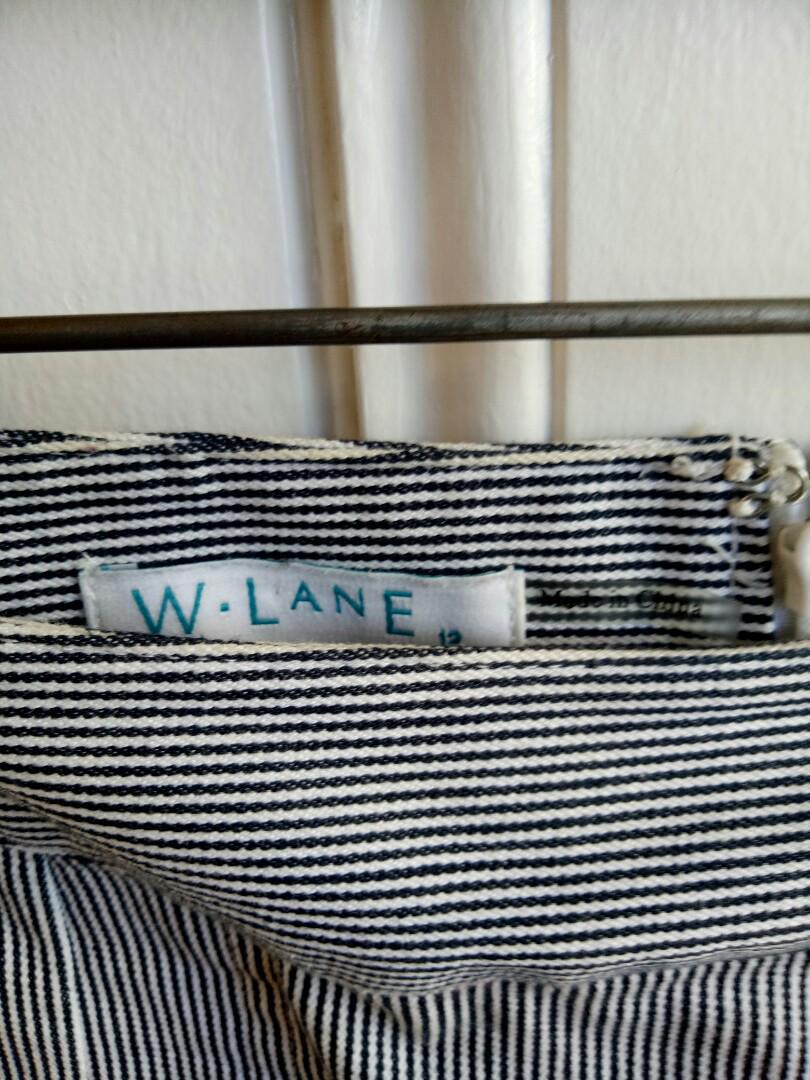 Striped work skirt