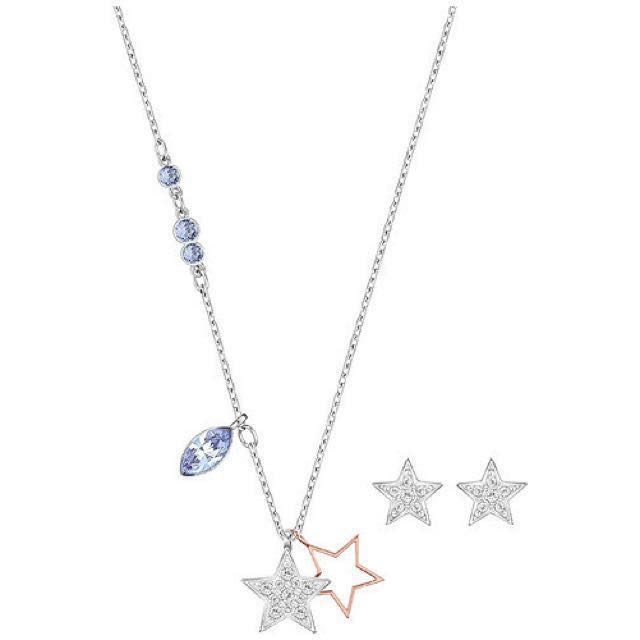 68f43054acefbe Swarovski Star necklace and earrings set