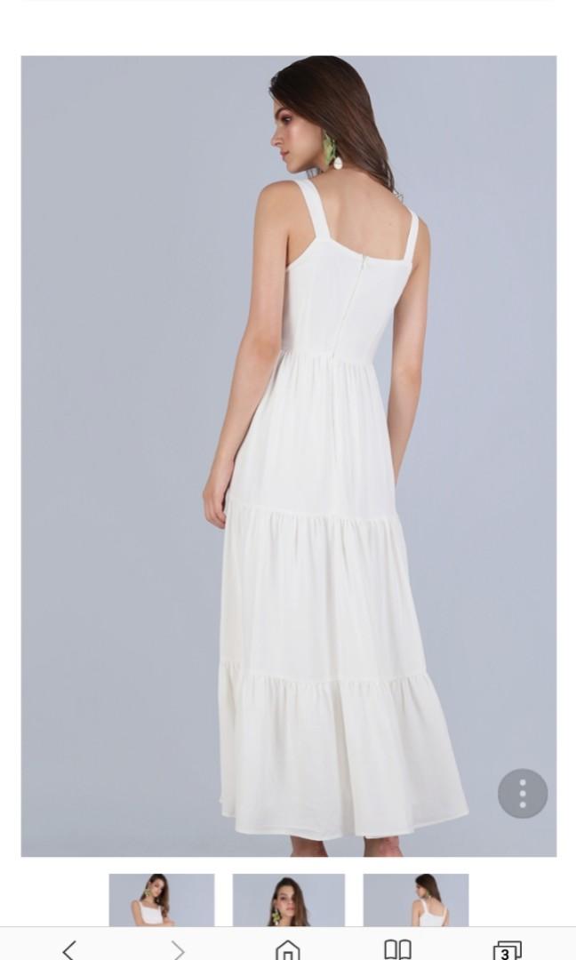 62e5fef6f62 TTR FLO TIERED MAXI DRESS (WHITE)