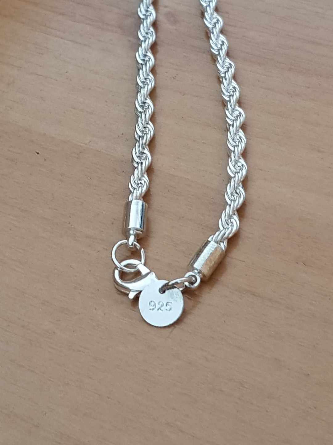 d3af197ff5bb9 Unisex 925 Sterling Silver Stamped Twisted Rope Chaim, Women's ...