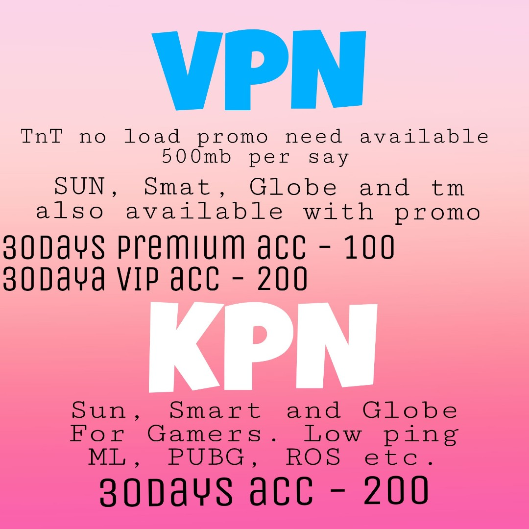 Unlimited data Sulit data (VPN and KPN/