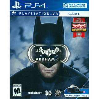 PS4 PSVR Batman Arkham VR