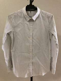 Uniqlo long sleeve stripes shirt