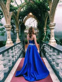 Royal blue gown for rent