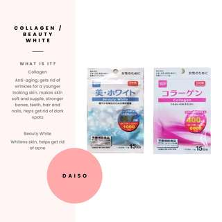 [Daiso] Collagen or Beauty White