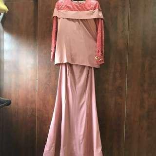 Baju kurung modern with lace (never worn)