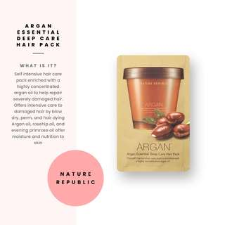 [Nature Republic] Argan Essential Deep Care Hair Pack