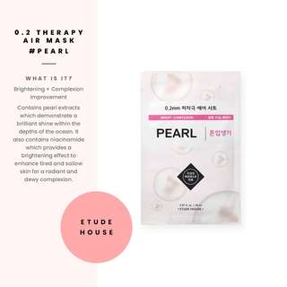[Etude House] 0.2 Therapy Air Mask #Pearl