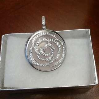 Silver Swarovski pendant