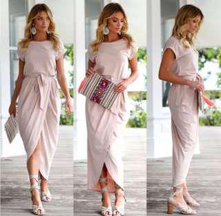NEW! Pink Overlay Maxi Dress