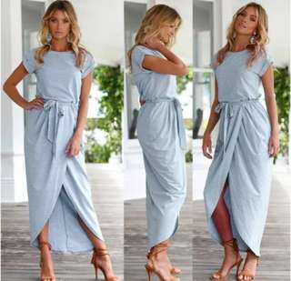 NEW! Maxi Front Slit Dress