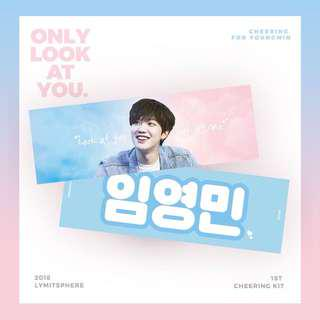 [SG GO] ONLY LOOK AT ME Youngmin 1st Cheering Kit / Produce 101 MXM Brand New Music