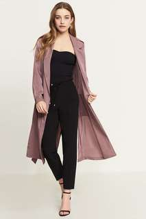 Dynamite Satin Midi Duster in Mauve