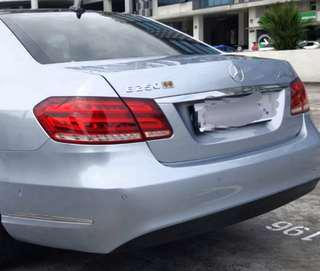 Mercedes E-class w212 rear bumper original stock diffuser
