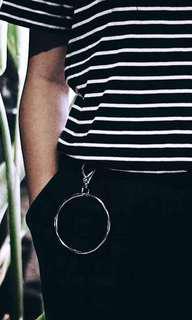 Silver circle streewear