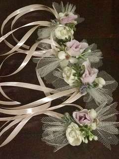 4pcs bridal car door knob flowers