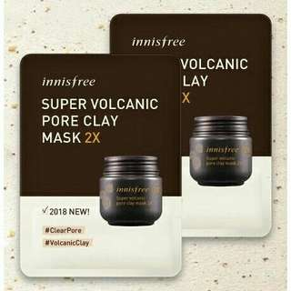 INNISFREE Super volcanic pore clay mask 2X  sample