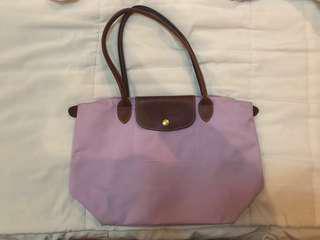 Authentic Longchamp Small Long Handle Purple
