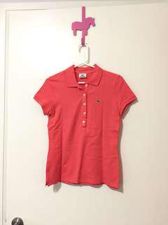 LACOSTE brand new polo shirt in orange pink
