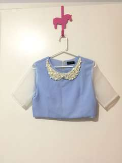 TOPSHOP Sister Jane cropped top