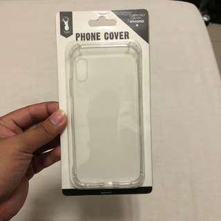 TYPO Transparent iPhone X case