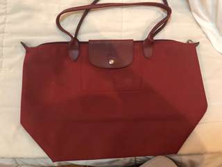 Authentic Longchamp Long Handle Large Red