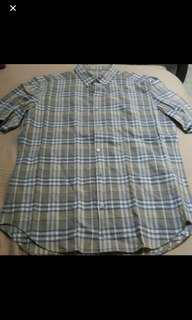 Authentic BN Burberry Men Short Sleeves Checkers Shirt
