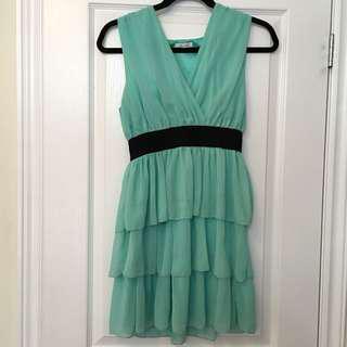 Ruffle Turquoise Dress