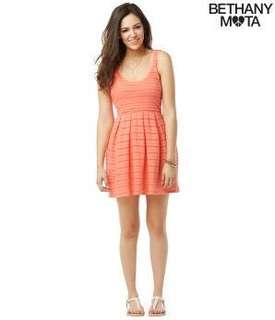 Aeropostale Bethany Mota Lace Knit Coral Dress