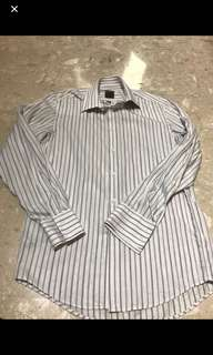 Authentic Calvin Klein Men Striped Long Sleeves Shirt