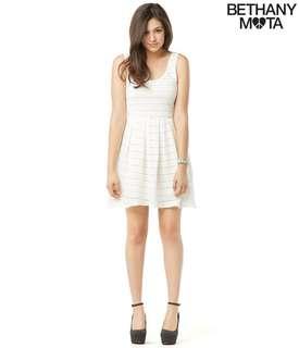 Aeropostale Bethany Mota Lace Knit White Dress